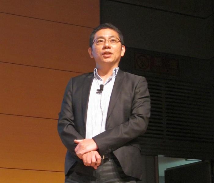 川口盛之助 futurist Morinosuke Kawaguchi presenting in Tokyo 2014.