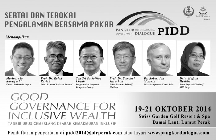 Morinosuke Kawaguchi is in great company at the Pangkor International Development Dialogue where he is making a keynote speed on October 20th, 2014
