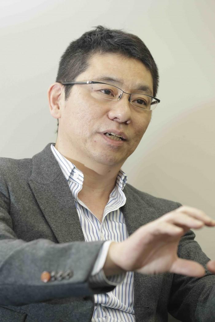 Morinosuke Kawaguchi talks about robots in an interview with Nikkan Kogyo Shinbun