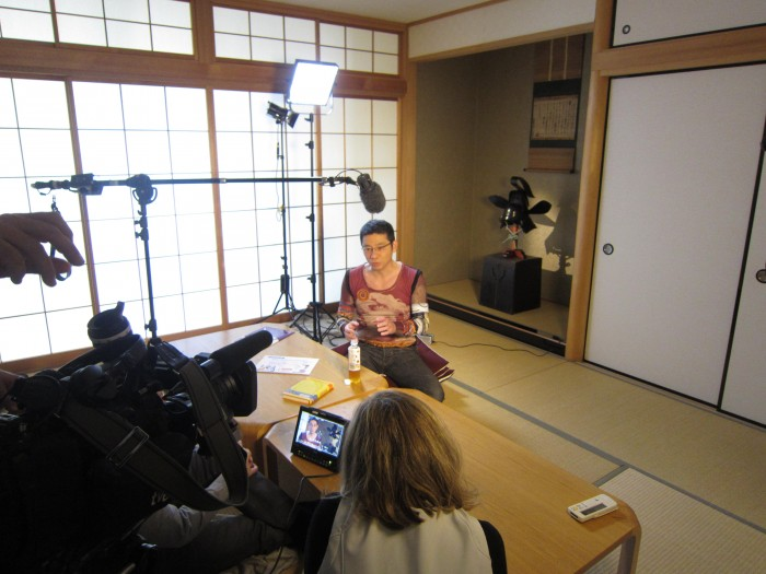 Morinosuke Kawaguchi is interviewed by TVE, Spain's National Television, in Tokyo, 2013.12.4.
