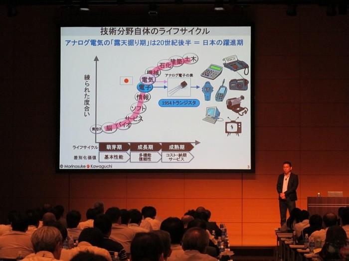 Morinosuke Kawaguchi 川口盛之助氏のpresentation slide